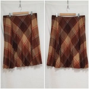 Punch Line Plaid Pleated Skirt